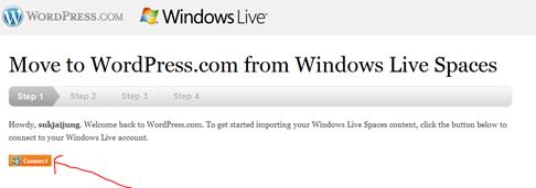 ย้ายบล็อกจาก Livespaces เข้า wordpress