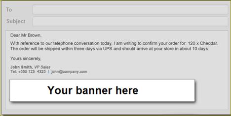 โปรโมทเวบไซต์ด้วย banner ในอีเมล์